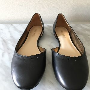 Unworn Black Leather Nine West Flats